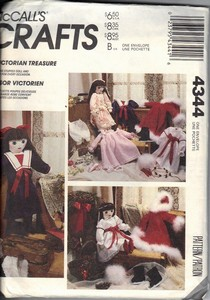 McCall's 4344 Victorian Treasure Doll Pattern UNCUT