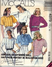 McCalls 4373 Blouse Wardrobe Pattern UNCUT