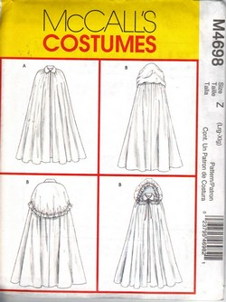 McCalls 4698 Historical Cape Pattern UNCUT