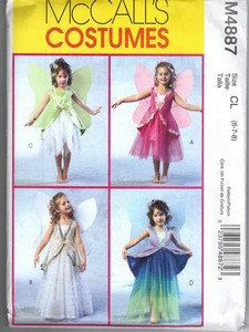 McCalls 4887 CL Girl's Fairy Costume Pattern NEW