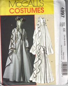 McCalls 4997 EE Renaissance Dress Pattern UNCUT