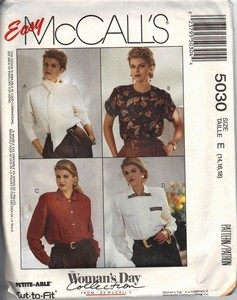 McCalls 5030 Blouse Sewing Pattern UNCUT