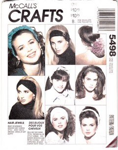 McCalls 5498 Headband Sewing Pattern UNCUT