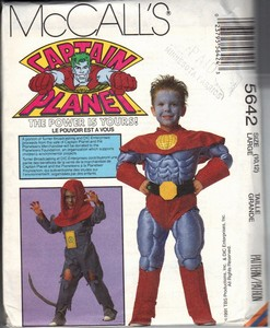 McCalls 5642 Large Captain Planet Costume Pattern UNCUT