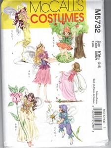 McCalls 5732 Kids Fairy Costume Pattern NEW