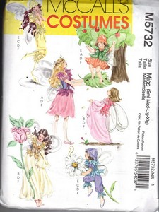 McCalls 5732 Adult Fairy Costume Pattern NEW