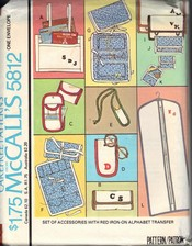 McCalls 5812 Alphabet Accessories Pattern UNCUT
