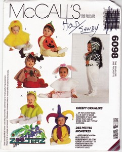 McCalls 6098 Creepy Crawler Costume Pattern UNCUT
