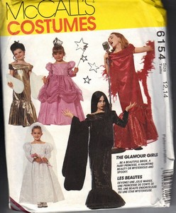McCalls 6154 Size 12,14 Glamour Girl Costume Pattern UNCUT