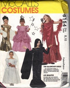McCalls 6154 Size 8,10 Glamour Girl Costume Pattern UNCUT