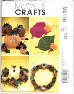 McCalls 6178 Pumpkin Accessories Pattern UNCUT