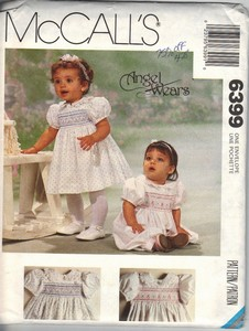 McCall's 6399 Toddler Smocked Dress Pattern UNCUT