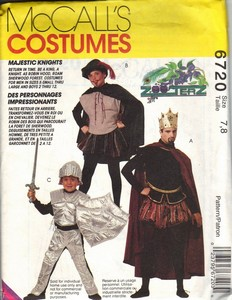 McCalls 6720 Knight King Robin Hood Pattern UNCUT