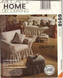 McCall's 6918 Slipcover Pattern UNCUT