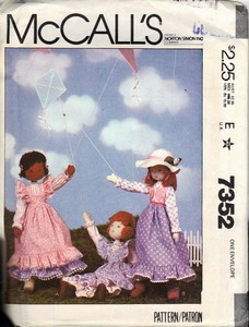 McCall's 7352 Soft Scuplture Doll Pattern