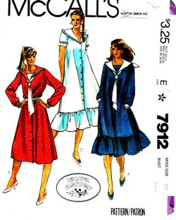 McCalls 7912 Laura Ashley Sailor Dress Pattern UNCUT