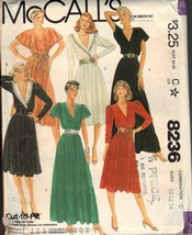 McCalls 8236 Partial Wrap Dress Pattern UNCUT