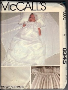 McCall's 8345 Christening Outfit Pattern UNCUT