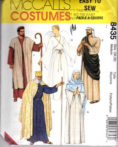 McCalls 8435 Christmas Pageant Costume Pattern Medium UNCUT