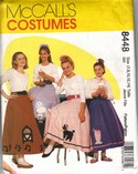 McCalls 8448 Poodle Skirt Pattern GIRLS Uncut