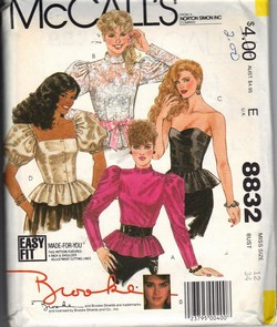 McCalls 8832 Retro Look Brooke Blouse Pattern