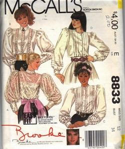 McCalls 8833 Brooke Victorian Style Blouse Pattern
