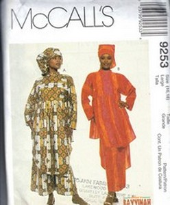 m9253 MED African Sewing Patterns