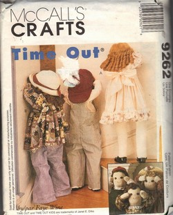 McCalls 9262 Doll Pattern Time Out Style UNCUT