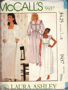McCalls 9437 Laura Ashley Nightwear Pattern Uncut