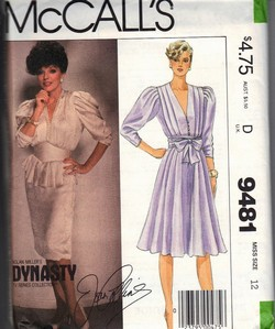 McCalls 9481 Dynasty Dress Sewing Pattern