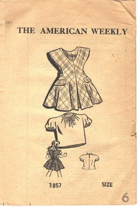 Vintage Child's Dress Mail Order Pattern UNUSED