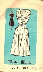 Anne Adams Mail Order Vintage Housedress Pattern UNUSED