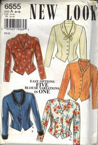 New Look 6555 Easy Options Blouse Variations Pattern UNCUT