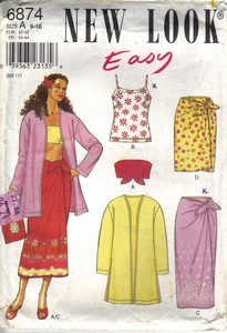 New Look 6874 Size A Easy Separates Pattern UNCUT