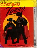 McCalls P450 Zorro Sz 8,10 Children's Costume Pattern UNCUT