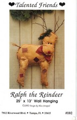 Ralph the Reindeer Wall Hanging Pattern NEW
