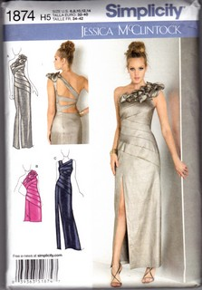 Simplicity 1874 McClintock Evening Dress H5 Pattern UNCUT