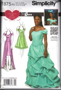 Prom Dress Patterns on Simplicity 1875 Prom Dress Sara Pattern Uncut  1875     12 50   The