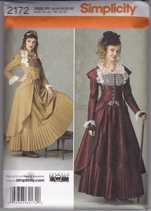 Simplicity 2172 R5 Steampunk Dress Pattern UNCUT