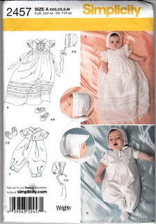Simplicity 2457 Christening Sewing Pattern Uncut