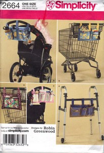 Simplicity 2664 Organizers Carts Walkers Pattern UNCUT