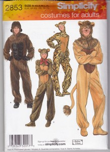 Simplicity 2853 Plush Furry Animal Costume Pattern Adult UNCUT