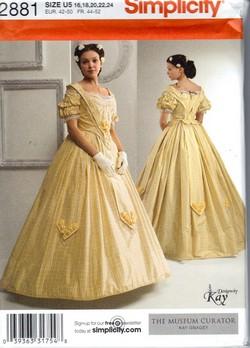 Simplicity 2881 U5 Civil War Ladies Costume Pattern NEW