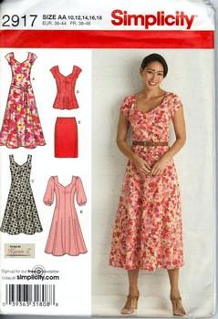 Simplicity 2917 Karen Z Summer Dress Pattern UNCUT [9911012917 ...