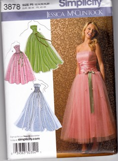 Simplicity 3878 McClintock Evening Dress P5 Pattern UNCUT