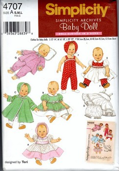 Simplicity 4707 Reproduction Baby Doll Pattern NEW