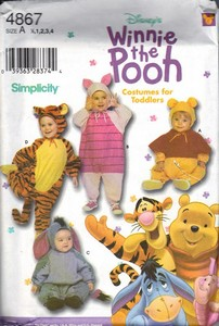 Simplicity 4867 Winnie the Pooh Toddler Costume Pattern