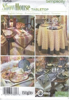 Simplicity 5068 Pattern Table Top Variety UNCUT