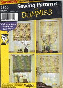 Simplicity 5260 Dummies Window Shade Pattern UNCUT