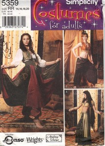 Simplicity 5359 Belly Dancer Pattern